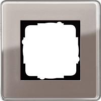 "Декоративная рамка 1 пост Gira Esprit Glass C Дымчатое стекло ""Умбра"" GIRA 0211522"