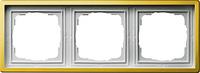 Установочная 3-х местная рамка Gira F100 0213113 для горизонтальной и вертикальной установки латунь