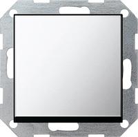 Одноклавишный проходной выключатель с самовозвратом GIRA 0126605 хром