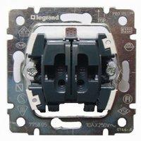 Выключатель двухклавишный для рольставней с механической блокировкой Legrand Galea Life 775804