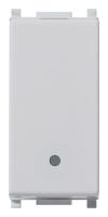 Одноклавишный выключатель 10А 1 модуль VIMAR PLANA 14000.SL цвет серебро