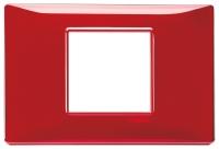 Рамка 2 центральных модуля VIMAR PLANA 14652.51 Reflex рубин