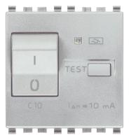 Выключатель термомагнитный /дифференциальный 1P+N C10 10 мА, 2 модуля VIMAR EIKON EVO 20411.10.N next