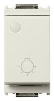 Кнопочный выключатель 1P 10A, 1 модуль символ света с люм. индикатором VIMAR IDEA 16081.F.B белый