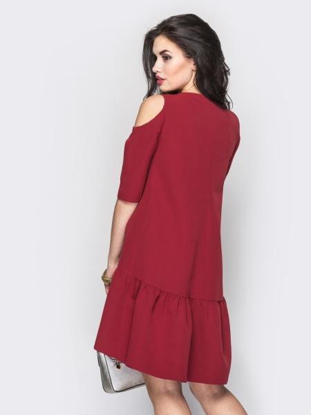 Платье трапеция от плеча