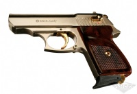 Пистолет стартовый Ekol LADY (7 патронов 1) сатин / позолота