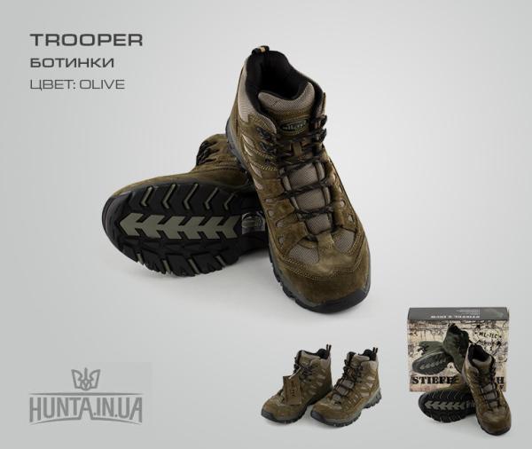 """Ботинки """"Trooper"""", олива"""