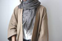 кашемировый шарф, серый