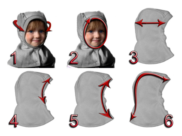 Как сшить шапку шлем из флиса для девочки 70