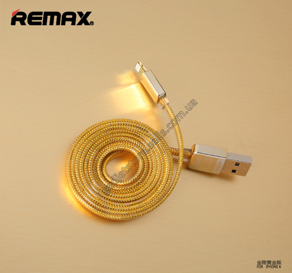 Дата кабель Remax Gold lightning для Apple iPhone 6/6 plus/5/5S/5C (1m)