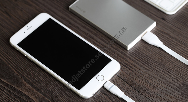 Кабель ROCK Lightning для Apple iPhone 6/6 plus/5/5S/5C (Led / Auto-disconnect) 1м