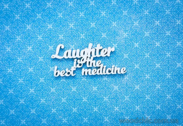 "Чипборд Надпись ""laughter is the best medicine"""