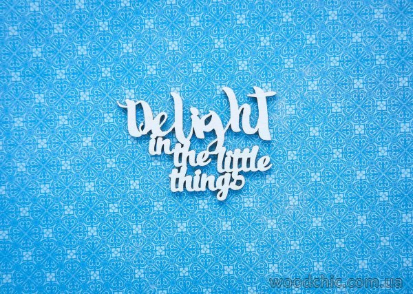 "Чипборд Надпись ""Delight in the Little Things"" 2"