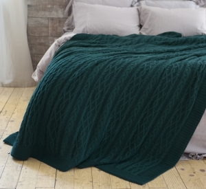 Покривало 220x240 BETIRES DOLCE GREEN (50% бавовна, 50% акрил) зелене