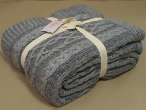 Покривало 220x240 BETIRES DOLCE GREY (50% бавовна, 50% акрил)