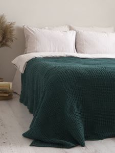 Покривало 200x220 LIMASSO PIKE DARK GREEN зелене