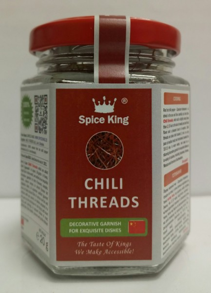 CHILI THREADS [red hot chili pepper shredded]
