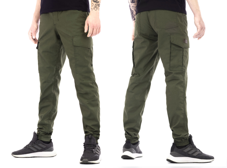 Tempest - Raider, jogger cargo olive rip-stop pants