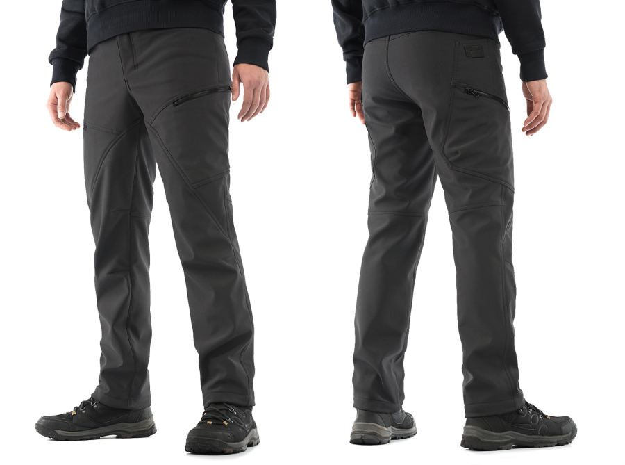 Tempest - Winterfrost (softshell), cold weather pants, grey