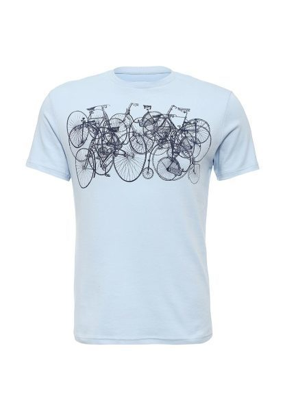 T-shirt with bicycles print