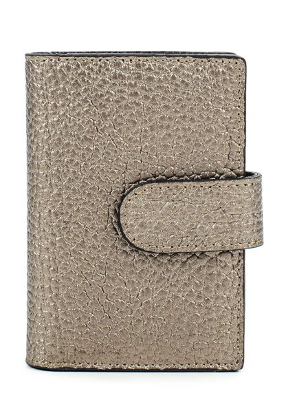 Business card holder made of perforated leather for business women with a zip