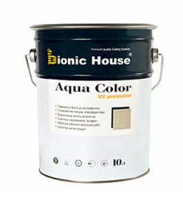 Акриловая лазурь-антисептик Aqua Color Bionic-House (10 л.)