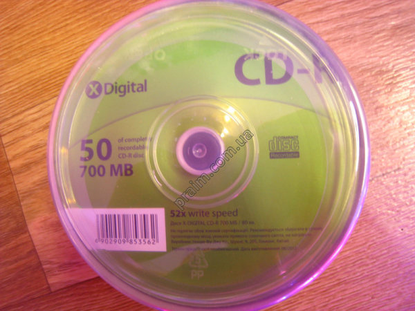 Компакт-диск X-Digital CD-R 700MB/52x CakeBox 50