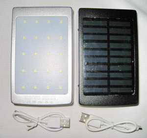 Power Bank Solar LED 20000mah 4445
