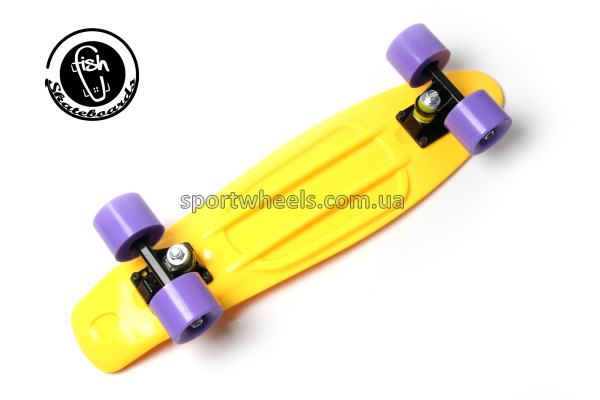 Пенни борд Фиш | Fish Skateboard Yellow Violet